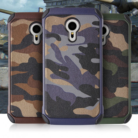 Camouflage Pattern Leather Coated TPU Cover Case For Meizu MX5