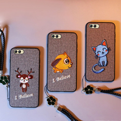 Chinese Traditional Embroidery Cartoon Style Soft Silicone Protective Case For Meizu 16th/16th Plus/16X/15/15Plus/M6S/E3