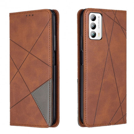 Contrasting Flip Leather Protective Case With Stand Function For MEIZU 18 Pro/18