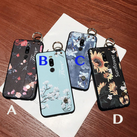 Flower Wristband Lanyard Silicone Case Cover For Meizu M8 Note/X8