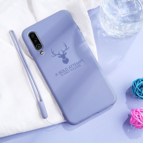 Full Protection Deer Series Liquid Silicone Protective Case For Meizu 16XS