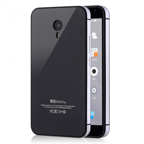 iPhone Style Metal Frame With Tempered Glass Back Cove For Meizu M3 Note