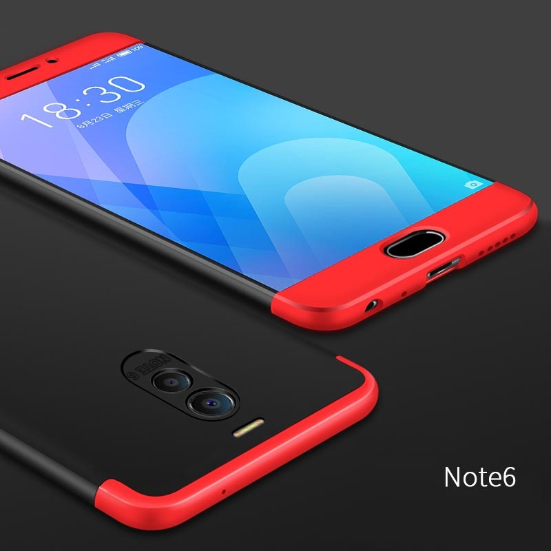 new product d4bc4 49588 3-in-1 Full Coverage Plastic Hard Back Cover Case For Meizu M6 Note / M5  Note / M3 Note