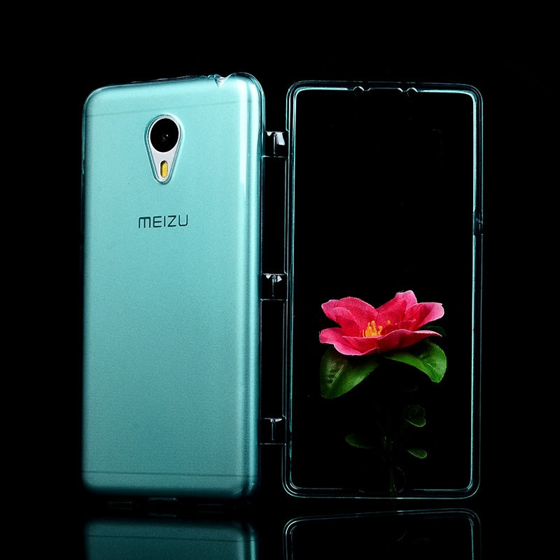 tpu back cover with screen protector flip protective case