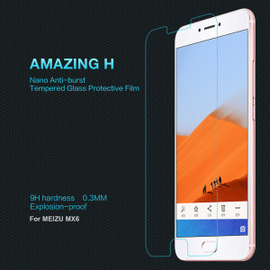 0.33mm H Anti-Explosion Glass Screen Protector For Meizu MX6