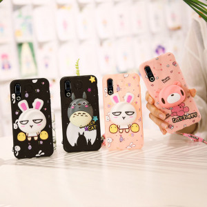 3D Cartoon Soft Silicone Multi-Function Protective Back Case For MEIZU 16S