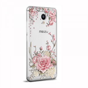 3D Stereo Relief Soft Silicone Protective Back Cover Case For Meizu M3S