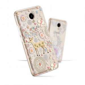 3D Stereo Relief Soft Silicone Protective Back Cover Case For Meizu M5S