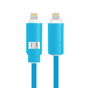 2in1 Micro USB &Lightning Sync Data Charger Cable