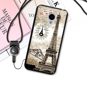 3D Relief Print TPU Back Cover Case For Meizu M5 Note / Meizu M5