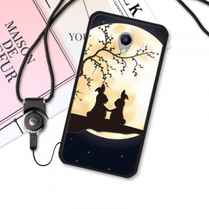 3D Relief Print TPU Back Cover Case For Meizu M3 Note / Meizu M3S