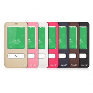 ALIVO Dual Window View Leather Flip Cover For Meizu M2 Note