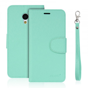 ALIVO Leather Flip Case Stand With Slots for Meizu M3S
