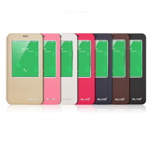 ALIVO Smart Window View Leather Case Cover for Meizu MX5