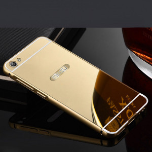 Aluminum Metal Frame With Mirror Style PC Back Cover Case For Meizu M3X