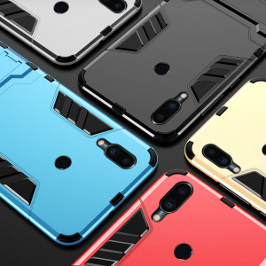 Armor Style Full Protection Simple Silicone Protective Case With Stand Function For Meizu M9 Note