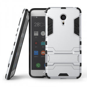 Armor Style Full Protection Simple Silicone Protective Case With Stand Function For Meizu Pro 6/ Pro 6S