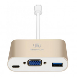 Baseus Sharp Series Type-C To VGA & HUB Adapter For Macbook