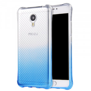 Colorful Gradual Change Style Soft Silicon Protective Back Case For Meizu M3 Note