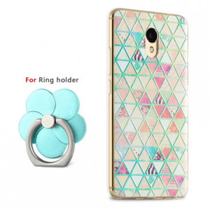 Creative 3D Relief Painting Soft TPU Back Cover Case For Meizu M5 Note (Ring Holder As Gift)