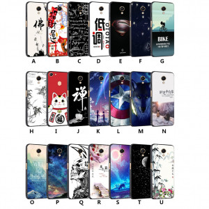 Creative Relief Painting Micro Frosted Soft TPU Back Cover Case For Meizu M6S