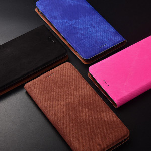 Denim Texture Classic Flip PU Leather Protective Case For Meizu M15/15/15 Plus