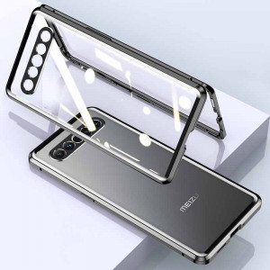 Dual Sided Toughened Glass Magnetic Adsorption Metal Frame Back Cover Case For MEIZU 17 Pro/17