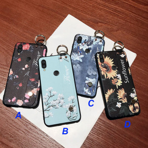 Fashion Flower Wristband Lanyard Silicone Case Cover For Meizu M9 Note