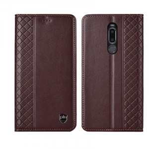 Fashionable Grid Texture Genuine Leather Flip Protective Case For Meizu M8 Note/X8/M8/V8