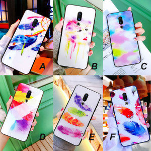 Feather Style Tempered Glass Back Cover Case For Meizu 16th Plus/16th