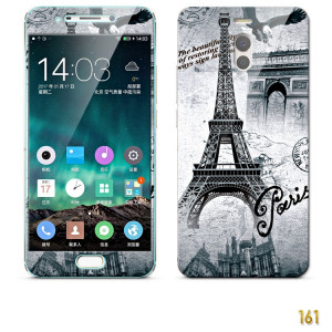 Front Colorful Tempered Glass+Back Fashion Relief Soft Protective Case For Meizu M6 Note