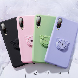 Full Protection Cartoon Ring Holder Series Silicone Protective Case For Meizu 16T