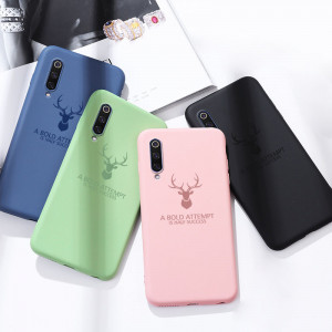 Full Protection Deer Series Liquid Silicone Protective Case For Meizu 16T