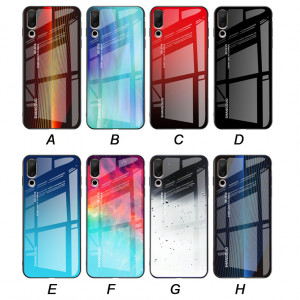 Full Protection Glass Back Cover+TPU Bumper Case For MEIZU 16S