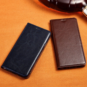 Genuine Cowhide Leather Flip Protection Case Cover For Meizu 15/15 Plus/M15