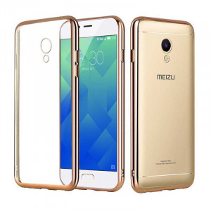 High Elastic Soft TPU Plating Frame Protective Back Case For Meizu M5S