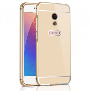 iPhone Style&Mirror Style Aluminum Metal Frame With PC Back Cover Case For Meizu Pro 6/Pro 6S