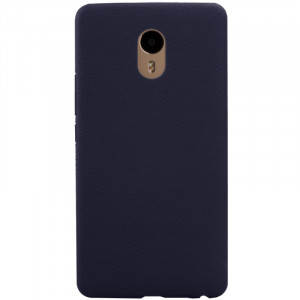 Litchi Texture Coated TPU Back Cover Case For Meizu M3 Max
