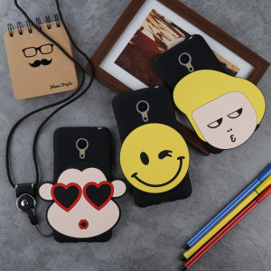 lovely Carton Cat Soft Silicone Protective Case With Lanyard For Meizu Pro 6/Pro 6S