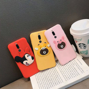 Lovely Cartoon Full Protection Silicone Soft Back Cover Case For Meizu M8 Note