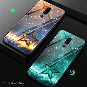Luminous Style Tempered Glass Back Cover TPU Bumper Protective Case For Meizu 16th Plus/16th