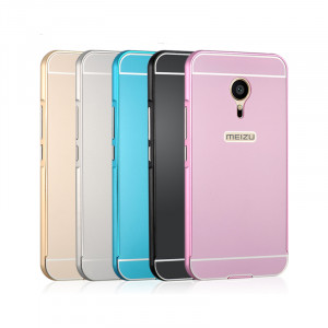 Luxury Ultra Thin Slim Aluminum Metal Bumper Frame Case for Meizu Metal
