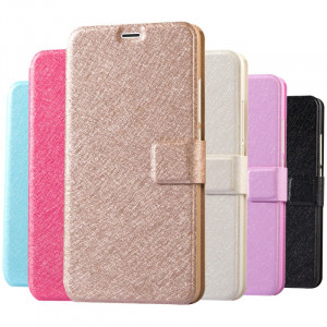 Meizu Metal Silk Texture Leather Flip Cover Case