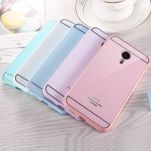 Meizu MX5 Metal Frame With Tempered Glass Back Cover Case
