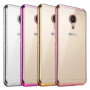 Meizu Pro 5 Metal Plating&Transparent TPU Back Cover Case