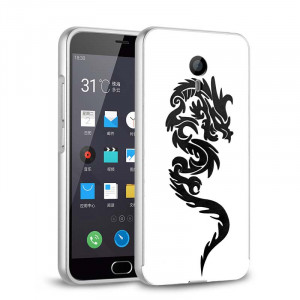 Chinese dragon Metal Frame With Relief Back Cove For Meizu M3S