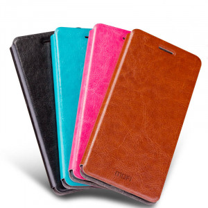 Mofi Classis Clamshell Thin Contracted PU Leather Case Flip Cover For Meizu M3 Max