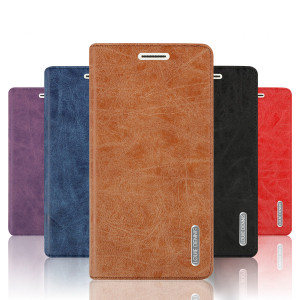 PU Leather Flip Case Stand Wallet Cover for Meizu M3S