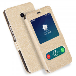 Silk Grain Smart Window Flip Leather Protective Case For Meizu M5/M5S