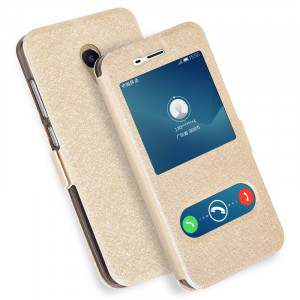 Silk Grain Smart Window Flip Leather Protective Case For Meizu M5 Note